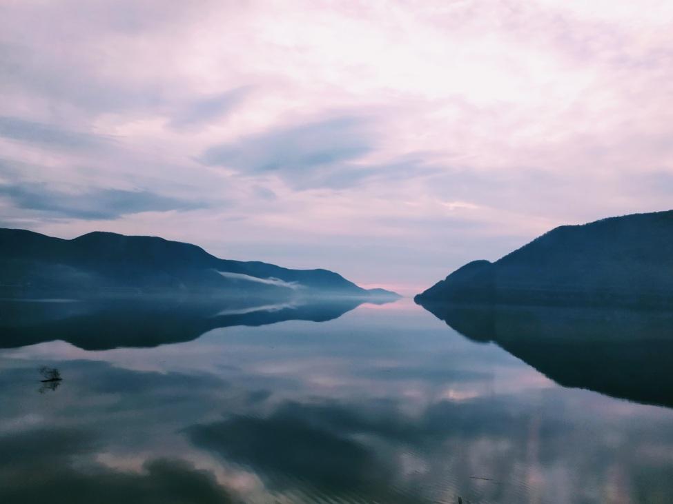 Blick auf einen See