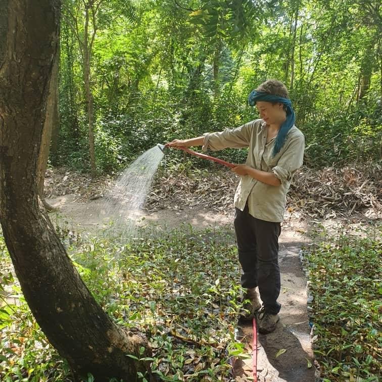 Ronja bei der Arbeit im Reservat