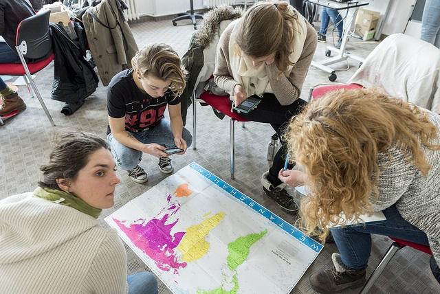 kulturweit-Freiwillige beim Vorbereitungsseminar am Werbellinsee