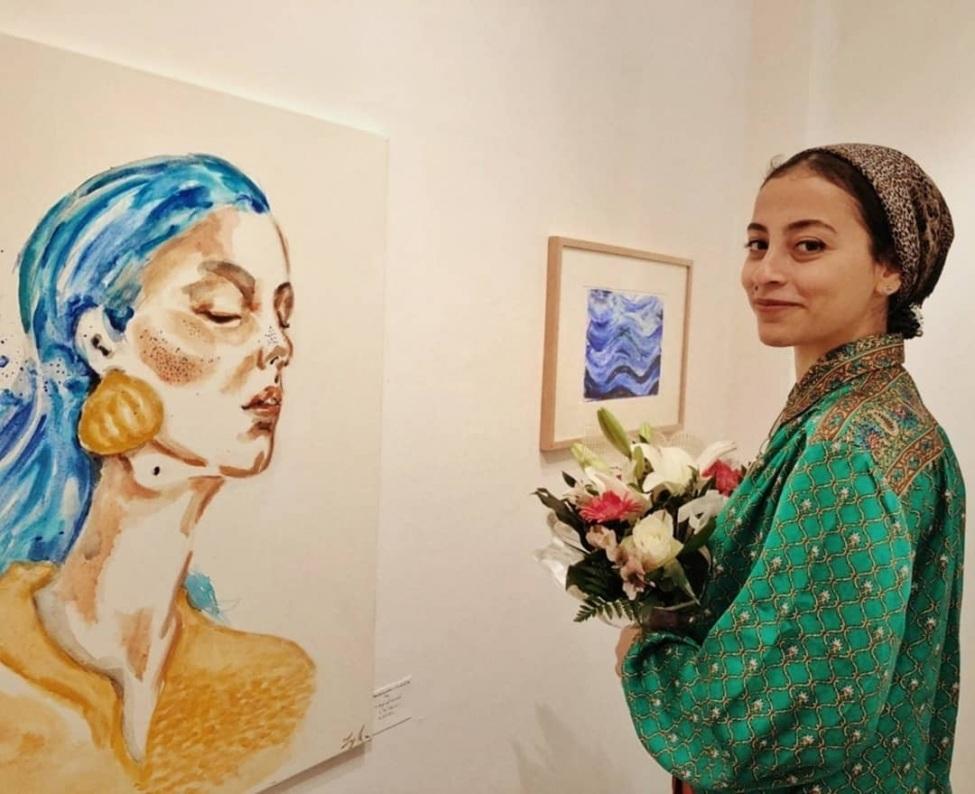 Laila El Sawi konnte 2019 ihre erste eignen Ausstellung verwirklichen