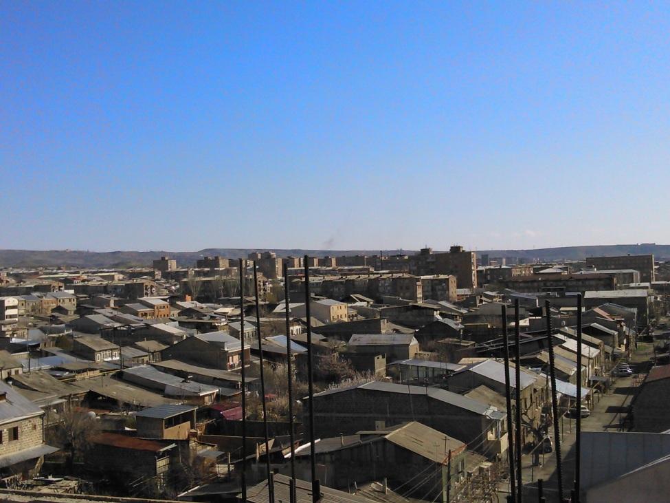 Blick auf Jerewans Stadtteil Erebun