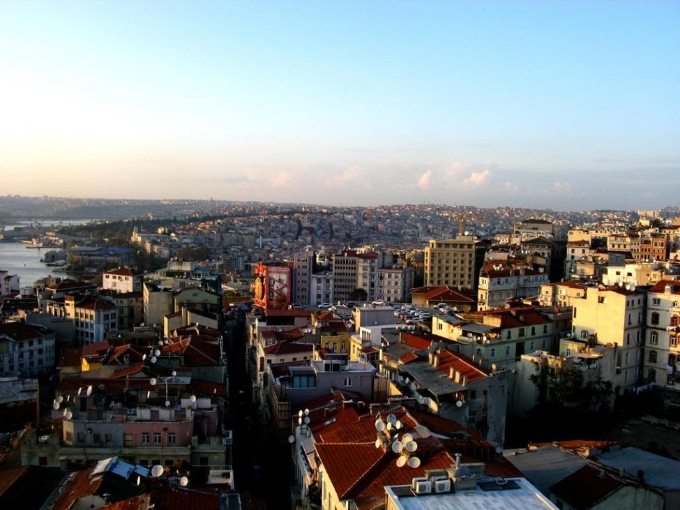 Blick über Istanbul bei Sonnenuntergang