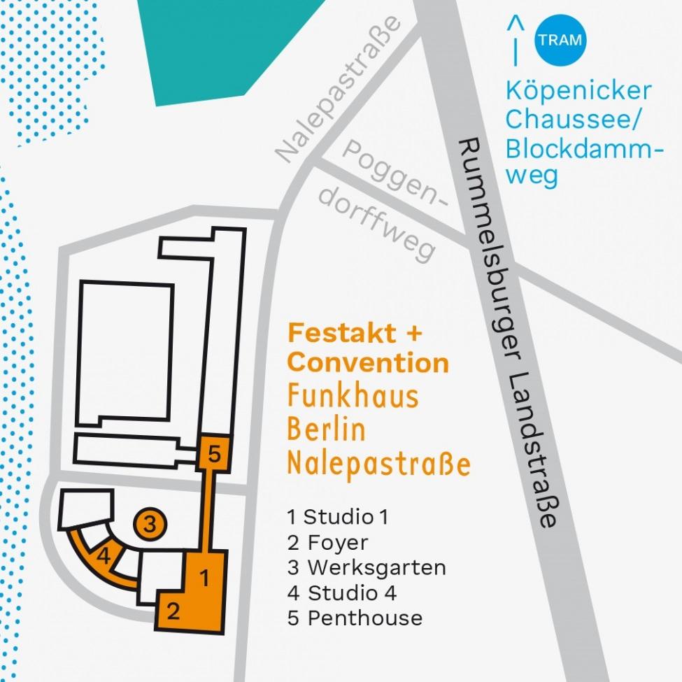 Festakt und Convention zu zehn Jahren kulturweit finden statt im Funkhaus, Nalepastraße, 12459 Berlin.