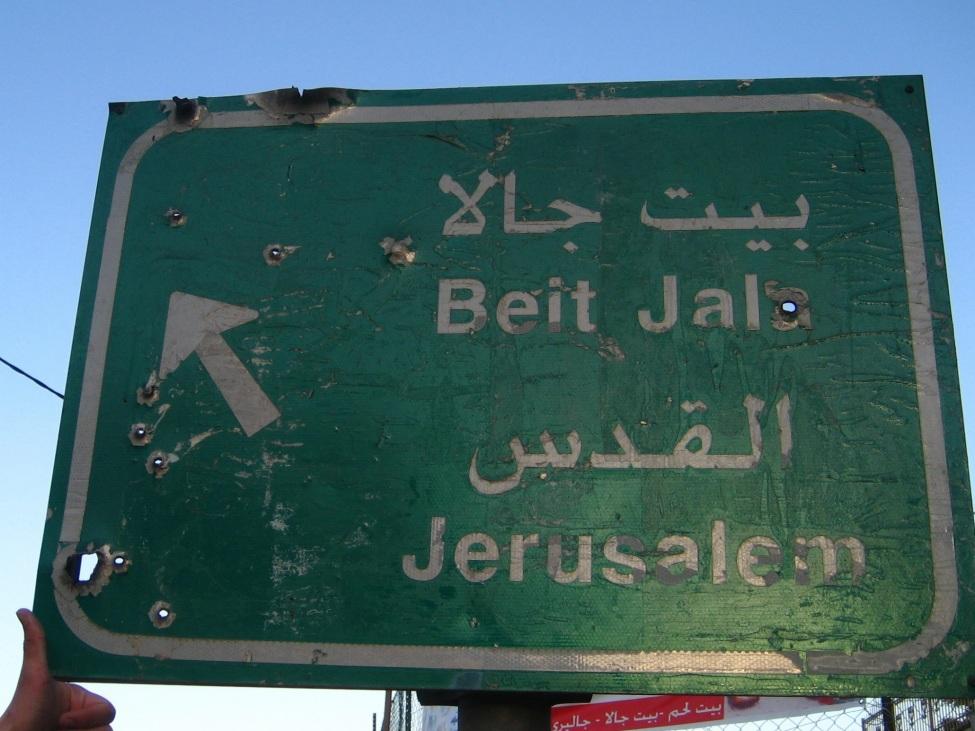 Wegweiser nach Jerusalem