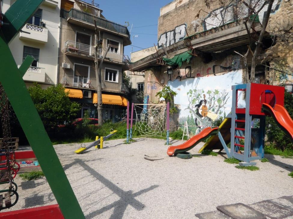 Bild des beschriebenen Spielplatzes in Athen