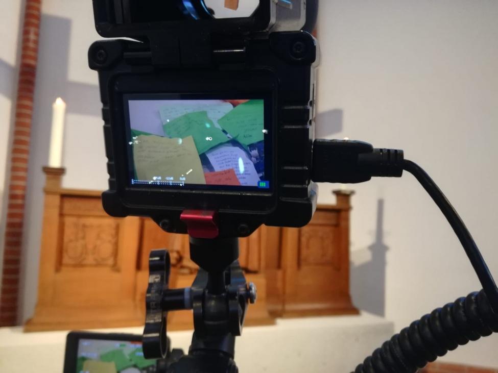 Video-Dreh in der Einsatzstelle in Hamburg in der Robert seinen FWD macht