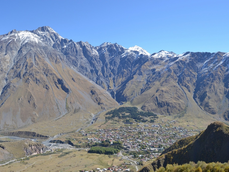 Ansicht eines großen Gebirges