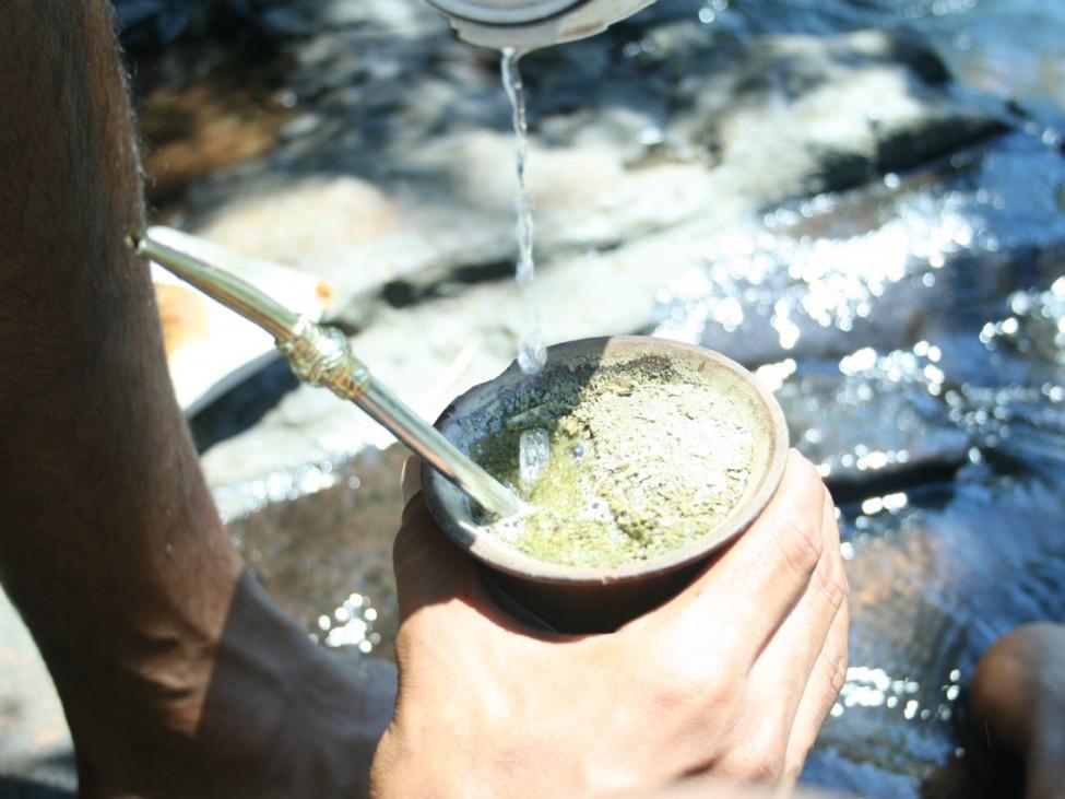 Zubereitung von Mate Tee