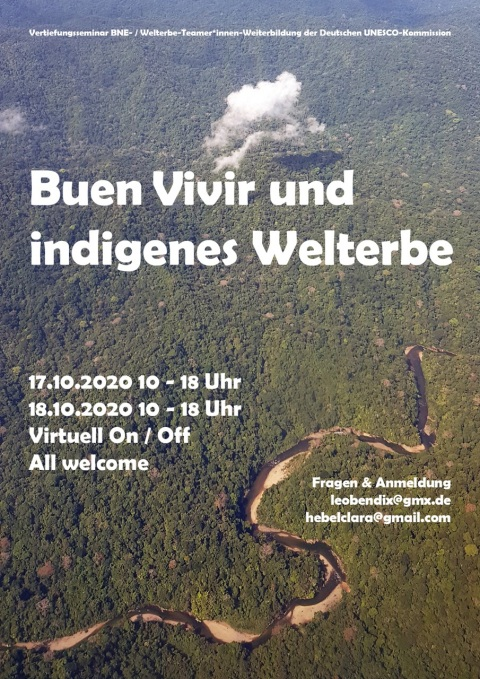 Buen Vivir und indigenes Welterbe Flyer