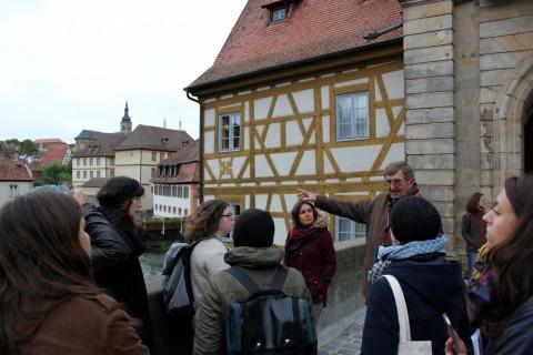 ALumni beim Welterbe-Workshop in Bamberg