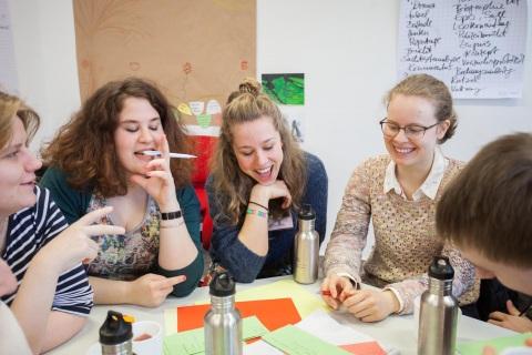 Freiwillige auf kulturweit-Seminar