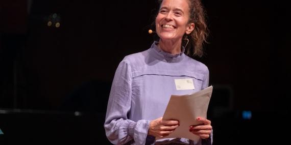 Anna Veigel beim Festakt im Funkhaus