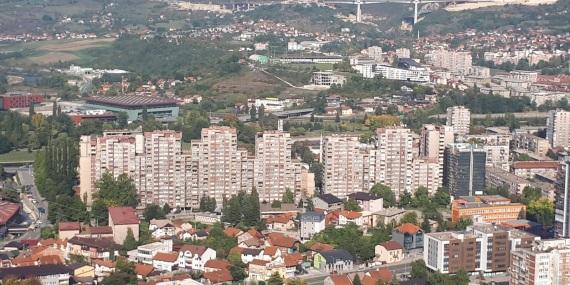 Blick auf Zenica Einsatzstelle Bosnien
