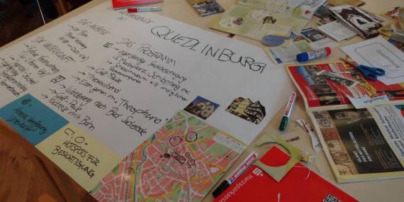 Welterbeplakat erstellt im Workshop