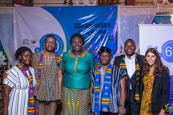 Zaira und ihre Kolleg*innen bei der 60 Jahresfeier zum Bestehen der ghanaischen Nationalkommission